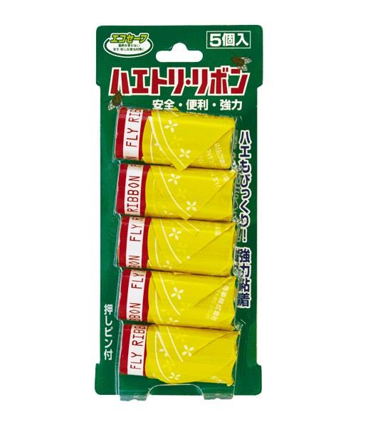 三共消毒 エコセーフのハエトリリボン 5個入 ×160個セット
