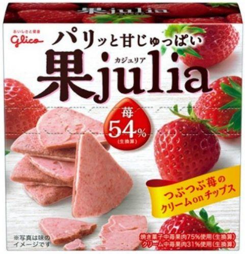 Glico fruit Julia Strawberry × 6 pieces (4901005500365)