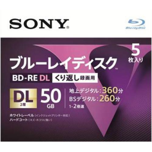 【送料込・まとめ買い×24個セット】ソニー ブルーレイディスク RE2倍速2層 Vシリーズ 5BNE2VLPS2 5枚入 1個