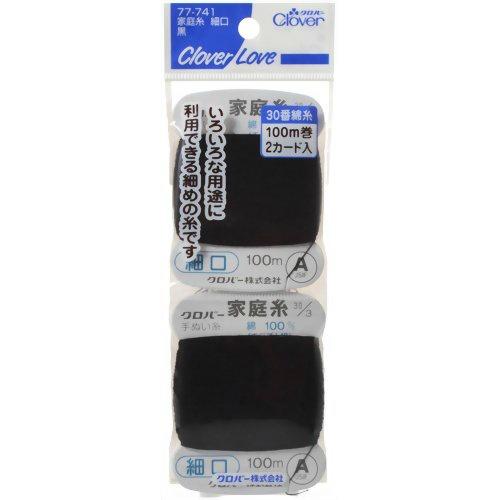【送料込】 クロバー クロバーラブ CL77741 家庭糸 細口 黒 ×500個セット
