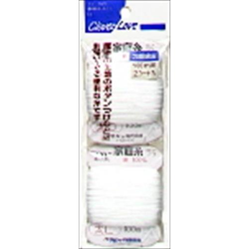 【送料込】 クロバー クロバーラブ CL77745 家庭糸 太口 白 2カード入 ×500個セット