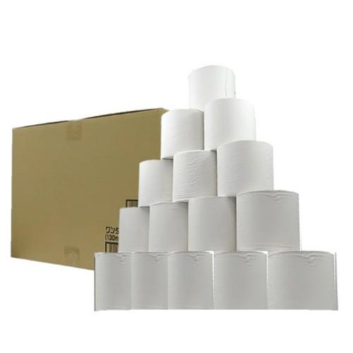 品質にもこだわった再生紙100%の業務用リサイクルトイレットペーパーです 4902144713012 送料込 税込 オリジナル商品 業務用ワンタッチコアレストイレットペーパー シングル 48ロール 6ロール 130m 1個 ×8パック 公式ストア