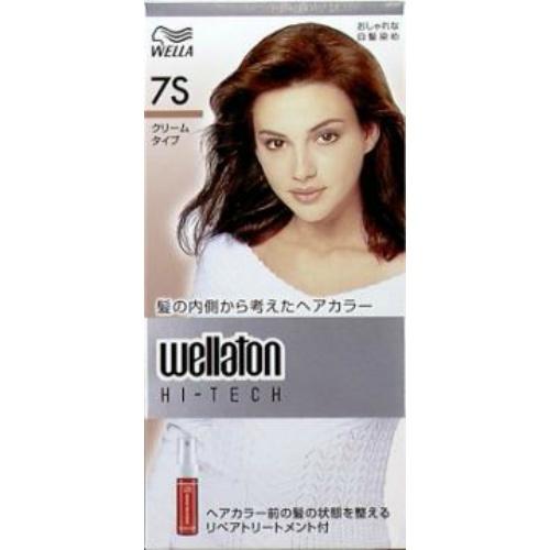 【送料込・まとめ買い×24個セット】 ウエラ ウエラトーン ハイテッククリーム 7S 透明感のある明るい栗色 医薬部外品 白髪染めヘアカラー 女性用 1個