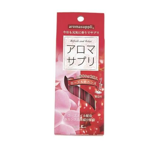 【送料込】 お香 インセンス アロマサプリ ローズ&赤カシス スティック 8本 ×2種入 ×100個セット