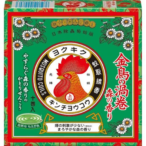 【まとめ買い】【大日本除虫菊・金鳥】金鳥の渦巻森の香り缶10巻 ×60個セット