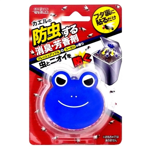 【まとめ買い】ウエ・ルコ カエルの生ゴミ防虫剤 フレッシュアップル 約7g ×120個セット