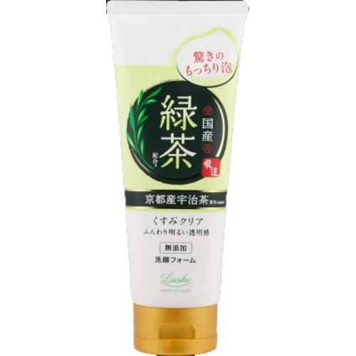 毎日の洗顔 国産素材で/4936201101467/送料無料/ ロッシモイストエイド 国産ホイップ洗顔R 緑茶 120g ×48個セット