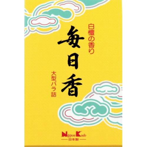 【送料込・まとめ買い×40個セット】 日本香堂 毎日香 大型バラ詰 1個