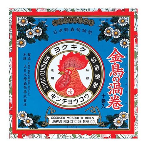 大日本除虫菊・金鳥 金鳥の渦巻き 10巻入 ×60個セット