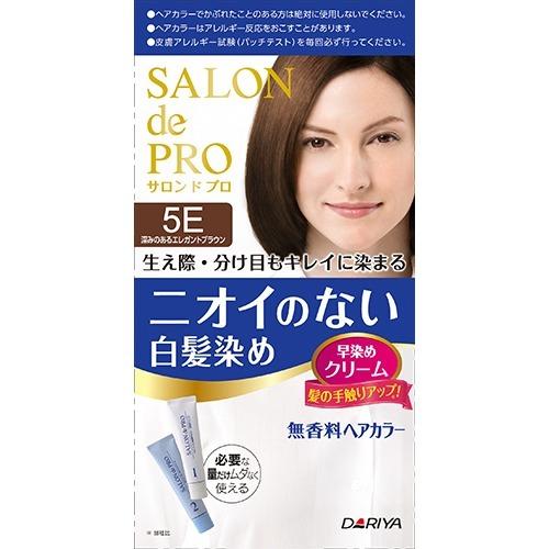 ダリヤ サロンドプロ 無香料ヘアカラー早染めクリーム 白髪用 5E 深みのあるエレガントブラウン ×36個セット