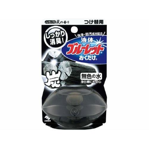 【送料込・まとめ買い×48個セット】小林製薬 液体ブルーレットおくだけ 替 心なごむ炭の香り 70ml 1個