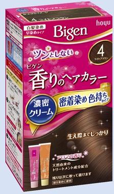 【送料込・まとめ買い×27個セット】 ホーユー ビゲン 香りのヘアカラー クリーム 4 ライトブラウン 1個