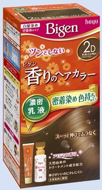 【送料込・まとめ買い×27個セット】 ホーユー ビゲン 香りのヘアカラー 乳液 2D 落ち着いたより明るいライトブラウン 1個