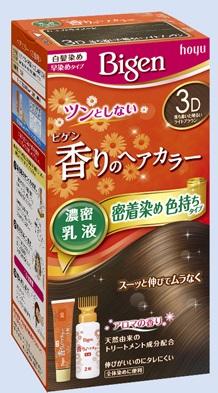 【送料込・まとめ買い×27個セット】 ホーユー ビゲン 香りのヘアカラー 乳液 3D 落ち着いた明るいライトブラウン 1個