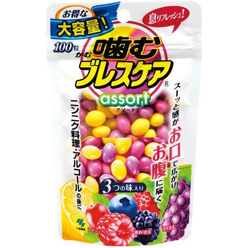 小林製薬 噛むブレスケアパウチ アソート 100粒入 ×24個セット 【口臭予防】