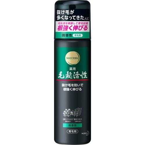 【送料無料・まとめ買い×24個セット】花王 サクセス 薬用毛髪活性 微香性 185g