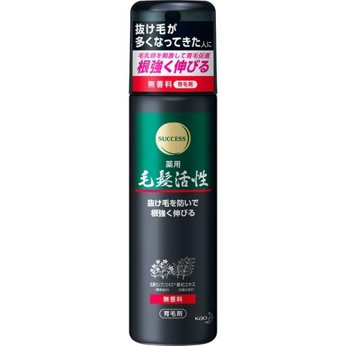【送料無料・まとめ買い×24個セット】花王 サクセス 薬用毛髪活性 無香料 185g