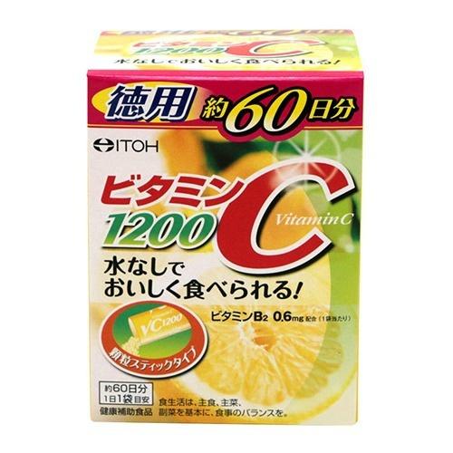 【送料無料・まとめ買い×48個セット】井藤漢方製薬 ビタミンC1200 60包入 1個