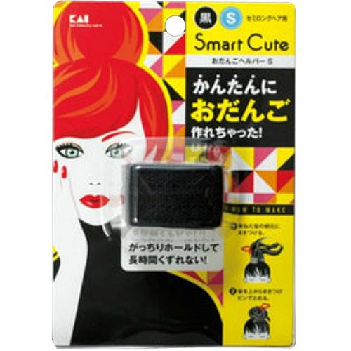【送料込・まとめ買い×120個セット】貝印 スマートキュート Smart Cute おだんごヘルパー セミロング用 S 黒 1個
