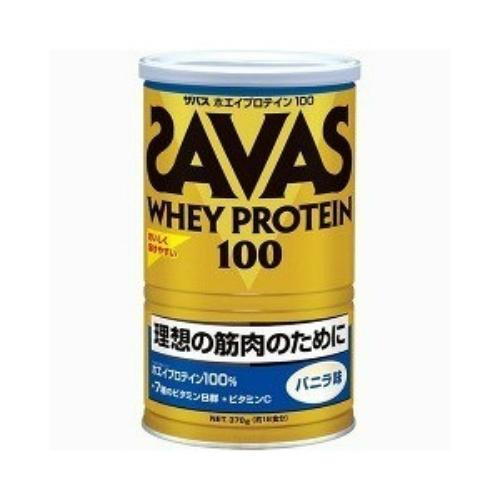 明治 ザバス SAVAS ホエイプロテイン100 バニラ 378g ×10個セット