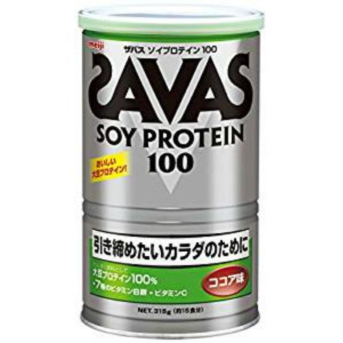 明治 ザバス SAVAS ソイプロテイン100 ココア味 315g 約15食 ×10個セット