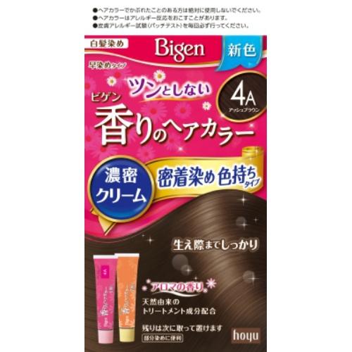 ホーユー ビゲン 香りのヘアカラー クリーム 4A アッシュブラウン 40g+40g ×27個セット