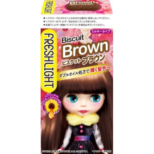 ヘンケルジャパン フレッシュライト ミルキーヘアカラー ビスケットブラウン ×36個セット