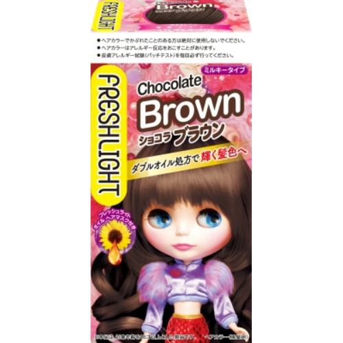 フレッシュライト ミルキーヘアカラー ショコラブラウン 1個 ×36個セット