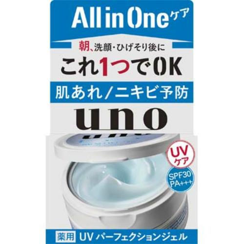 【送料込・まとめ買い×36個セット】 資生堂 ウーノ UVパーフェクションジェル 80g 1個