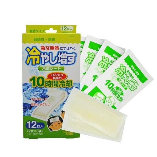 紀陽除虫菊 冷やし増す 冷却シート 子供用 無香 12枚入 1個 ×96個セット