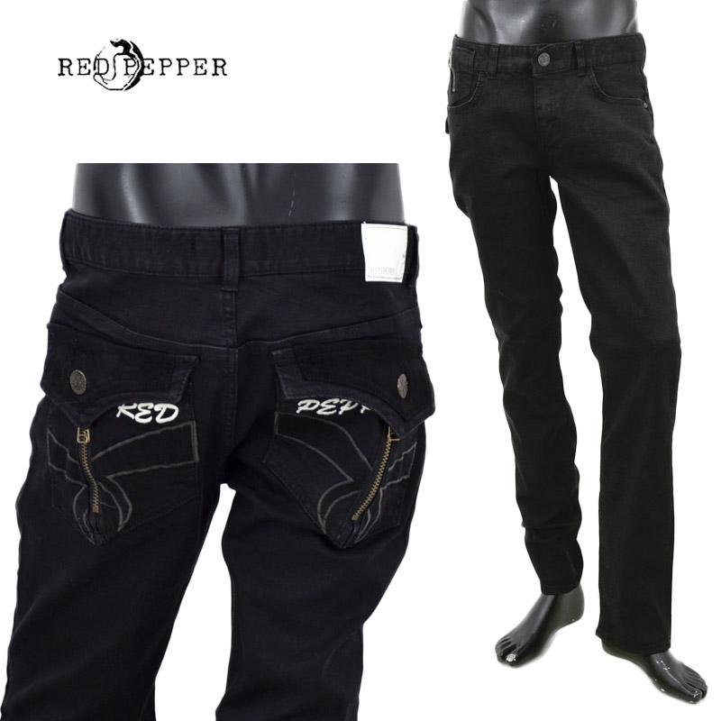 RJ/RJ2064-1RED PEPPER(レッドペッパー)MENS フラップポケット セミストレート ブラック【atrium102】