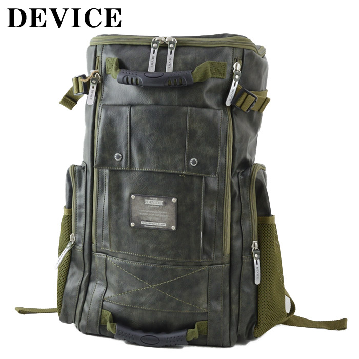 TO/DRG50120DEVICE(デバイス)DEVICE MAD スクエアリュック ヴィンテージソフト合皮の大容量スクエアリュック【atrium102】