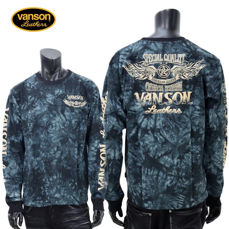 【2019年秋冬新作】vanson(バンソン)ワンスターウィング刺繍長袖Tシャツ NVLT-918【atrium102】