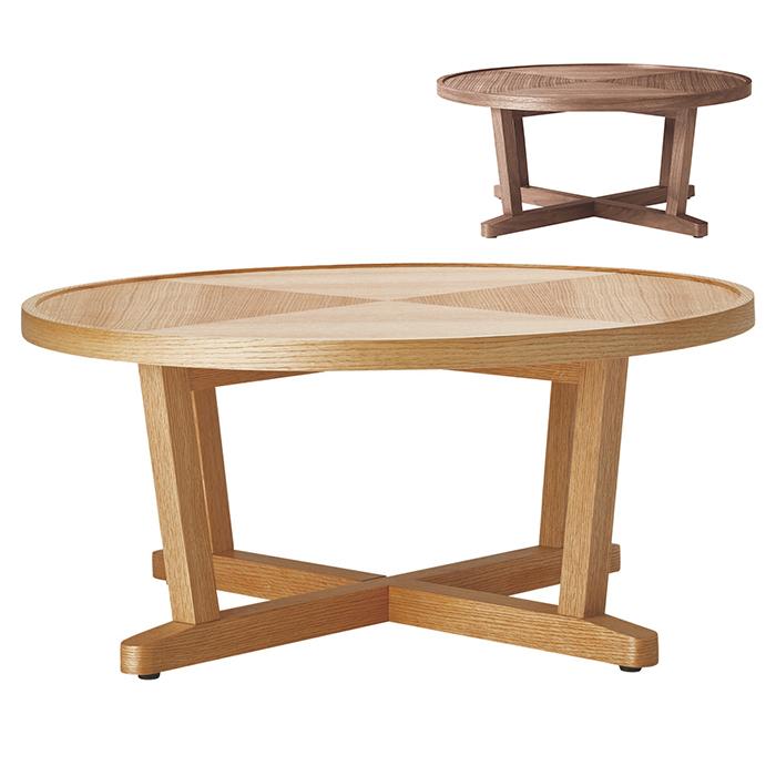 リビングテーブル 組立式 LT-63 幅800x奥行800x高さ355mm 桜屋工業