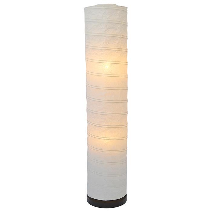 フロアライト 和紙 spiral 揉み紙 電球付属 幅220x奥行220x高さ1040mm 彩光デザイン