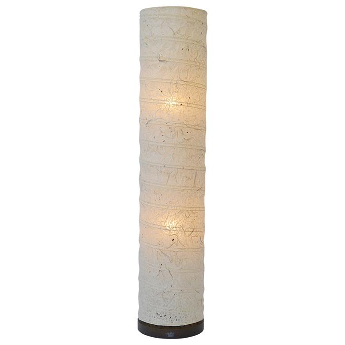 フロアライト 和紙 spiral 落水雲龍 電球付属 幅220x奥行220x高さ1040mm 彩光デザイン