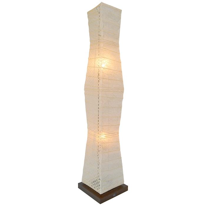 電球付属 幅210x奥行210x高さ1040mm 和紙 フロアライト tree 彩光デザイン 小倉流紙白×小梅白