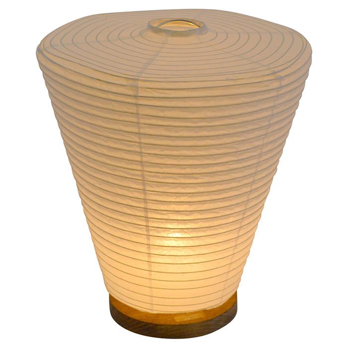 テーブルライト 和紙 drum 本美濃紙 電球付属 幅240x奥行240x高さ275mm 彩光デザイン