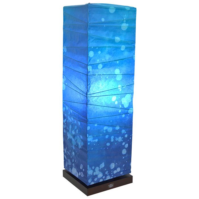 フロアライト 和紙 box 深海 電球付属 幅210x奥行210x高さ700mm 彩光デザイン