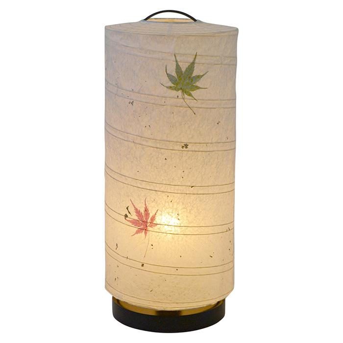 テーブルライト 和紙 aurora もみじ 電球付属 幅180x奥行180x高さ430mm 彩光デザイン