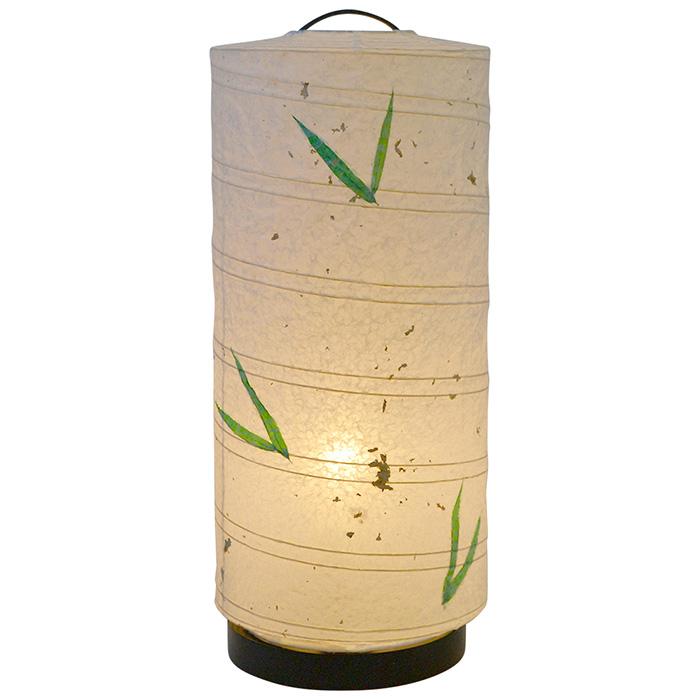 テーブルライト 和紙 aurora 笹 電球付属 幅180x奥行180x高さ430mm 彩光デザイン