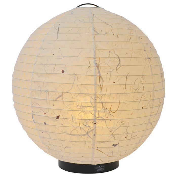 フロアライト 和紙 maru 黒雲龍×麻葉白(1面) 電球付属 幅390x奥行390x高さ425mm 彩光デザイン