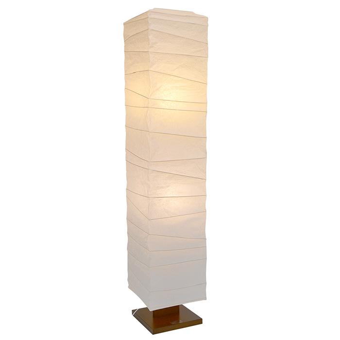 フロアライト 和紙 arrow 揉み紙 電球付属 幅270x奥行270x高さ1340mm 彩光デザイン