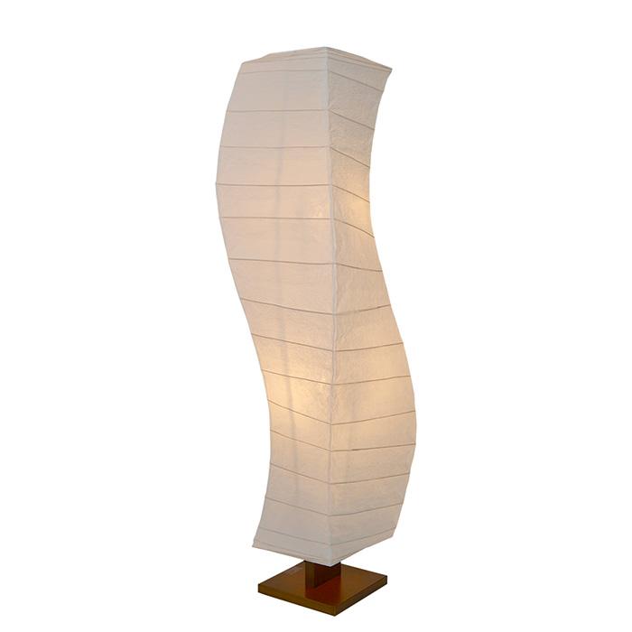 フロアライト 和紙 flow 揉み紙 電球付属 幅370x奥行370x高さ1340mm 彩光デザイン