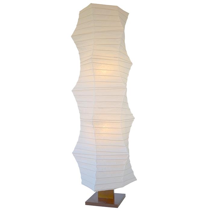 照明 ライト スタンド 床 リビング ベッドルーム おしゃれ 和風 フロアライト 和紙 kanabo 揉み紙 電球付属 幅490x奥行490x高さ1430mm 彩光デザイン