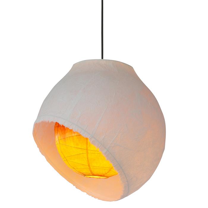 1灯 和紙 ペンダントライト moon 月のあかり 電球付属なし シェードサイズ 幅450x奥行450x高さ450mm 彩光デザイン
