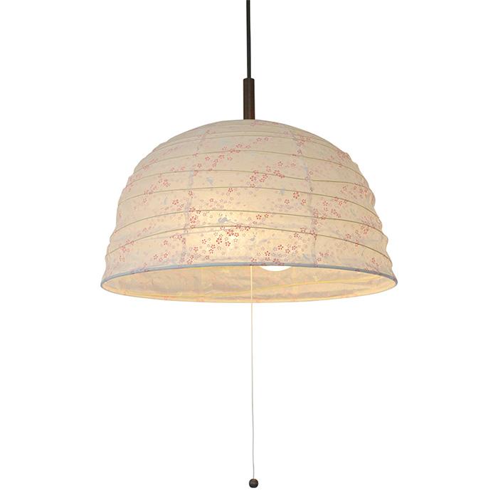 2灯 和紙 ペンダントライト tent 花うさぎピンク 電球付属なし シェードサイズ 幅455x奥行455x高さ270mm 彩光デザイン