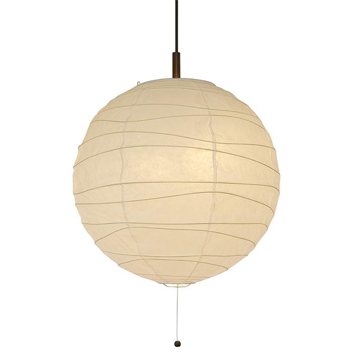 2灯 和紙 ペンダントライト wave 楮紙白 電球付属なし シェードサイズ 幅480x奥行480x高さ455mm 彩光デザイン