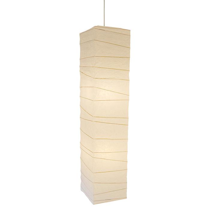 2灯 和紙 ペンダントライト arrow 揉み紙 電球付属なし シェードサイズ 幅270x奥行270x高さ1240mm 彩光デザイン
