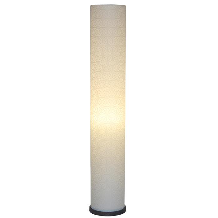 フロアライト 和紙 roll s 特麻葉白 電球付属 幅130x奥行130x高さ750mm 彩光デザイン
